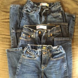 Boy size 10 jeans lot Levi's and Lee